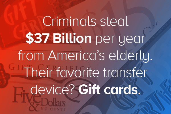 Billions stolen from elderly through gift cards
