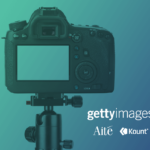 Photo of a digital camera alongside the Kount, Aite, and Getty Images logos