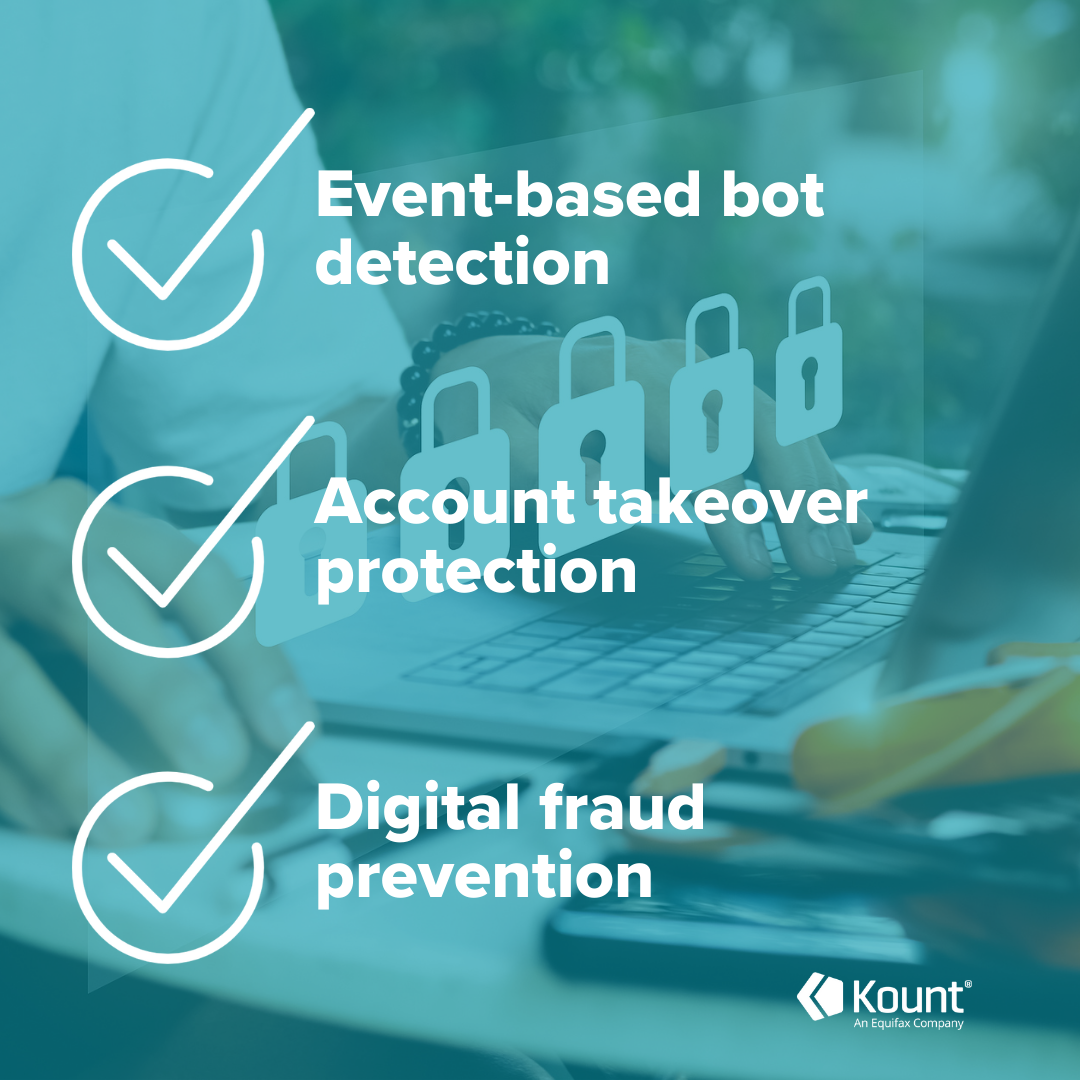 Botnet detection tools: Event-based bot detection, account takeover protection, digital fraud prevention